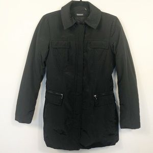 Tahari Black Quilted Jacket Size Small